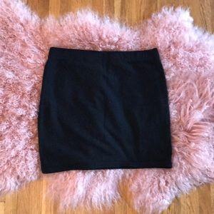 H&M 🖤 Black Stretch Cotton Mini Skirt